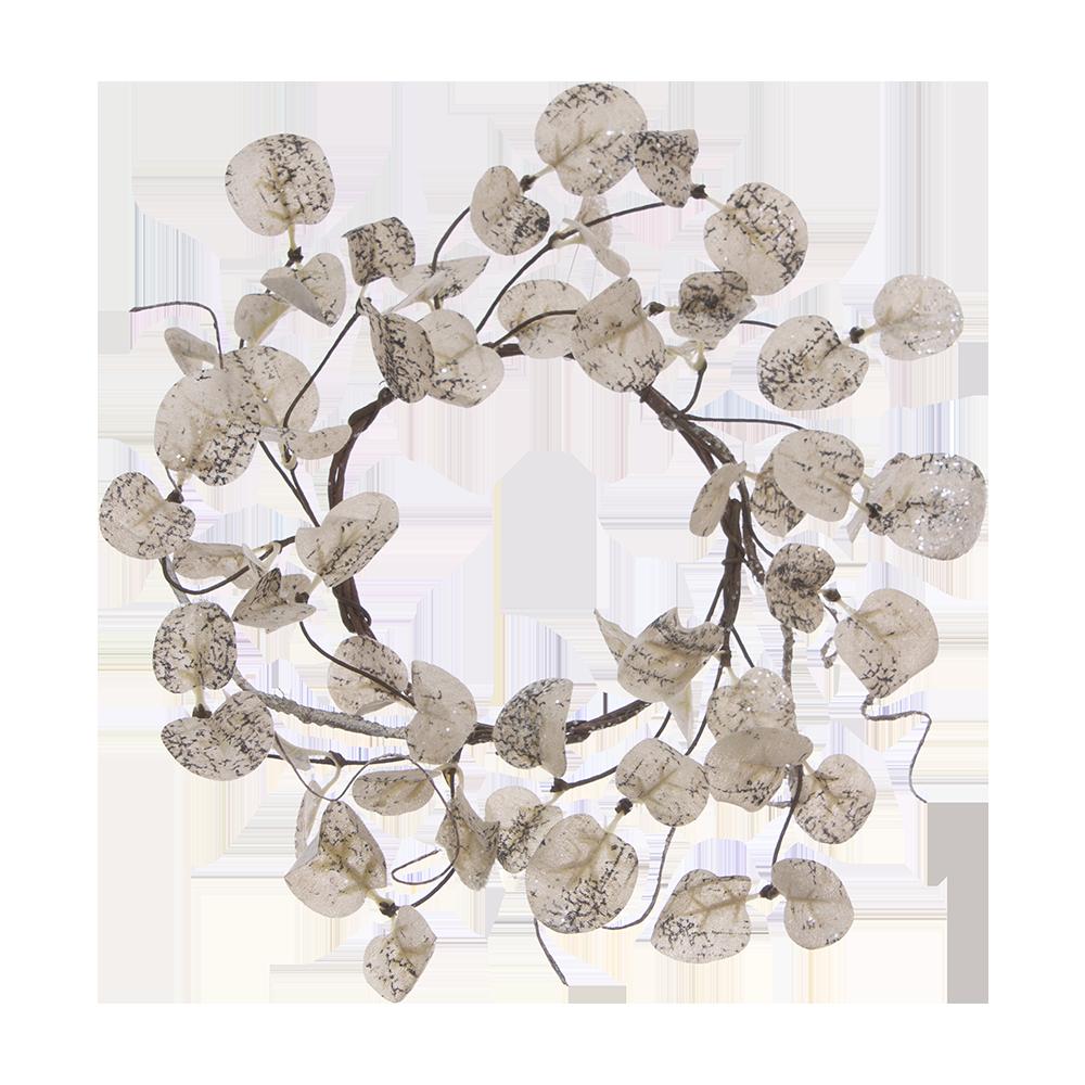 "Round Leaf Candle Ring 4.5"" - 1834 - HEM"