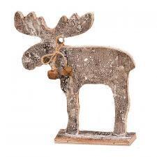 Sm Glitter Birch Bark Moose - 1504 - HEM