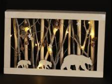 Bear Scene Frame w led light - 1501 - HEM
