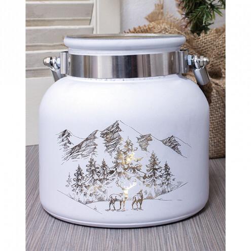 Small Winter Landscape Jar - 1835 - HEM