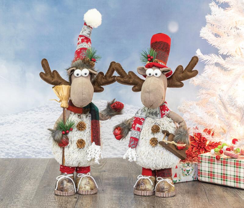 Woolly Winter Moose Stander - 2158 - HEM