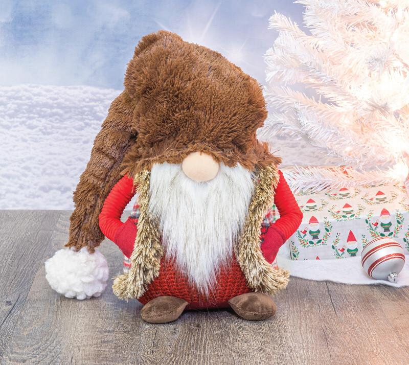 Chocolate Hat Santa Gnome  - 2174 - HEM