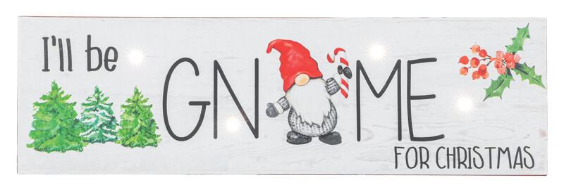 Holly Gnome for Xmas Hanger - 2176 - HEM