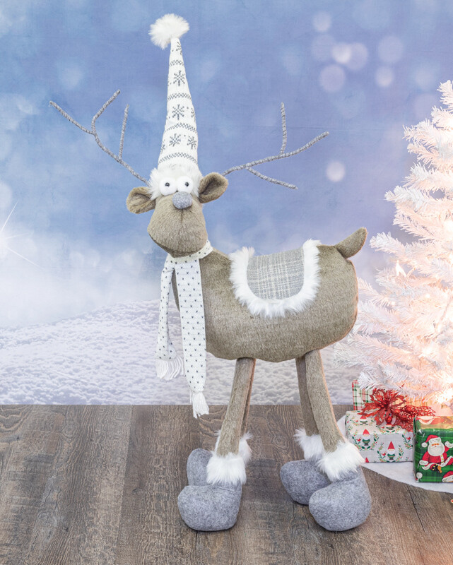 Frosted ivory Moose Standing  - 2171 - HEM