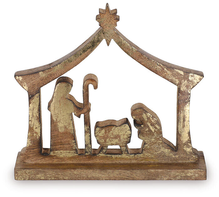 Nativity Wood Gold  - 2608 - HEM