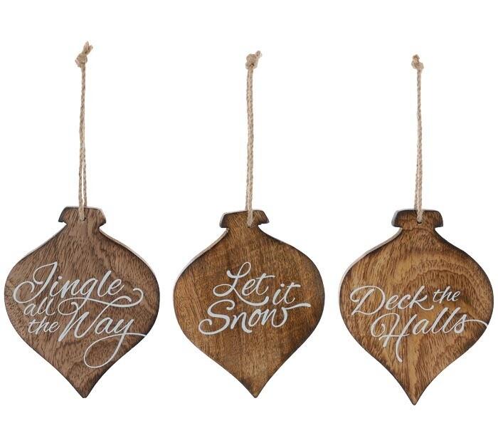 Orn Xmas Song Wood  - 2601 - HEM