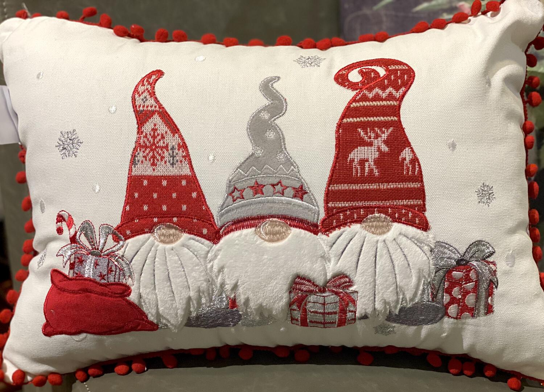Gnomes Xmas Pillow 18x18-1236-HEM