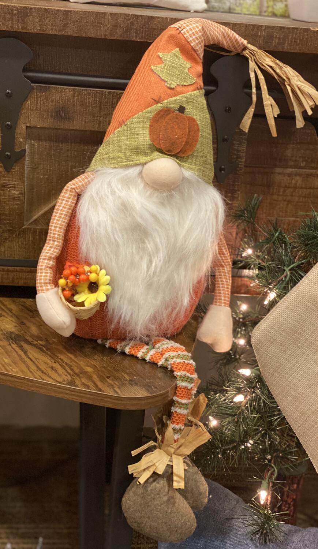 "Green Pumpkin Hat Gnome 19"" - 1831 - HEM"