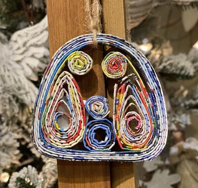 Orn Nativity Recycled Mag-1234-HEM