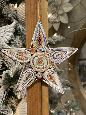 Orn Star Tree Recycled Mag-1232-HEM