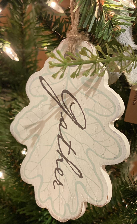 """Tag Leaf Gather Wood 4.5"""" - HEM"""