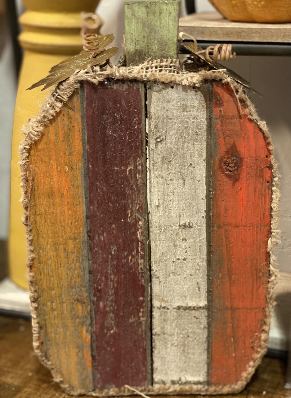 Striped Wood Pumpkin-2186-HEM