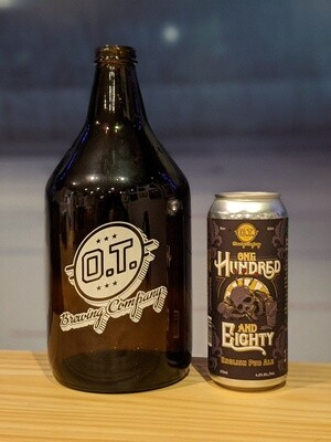 One Hundred & Eighty 64oz Growler & Fill