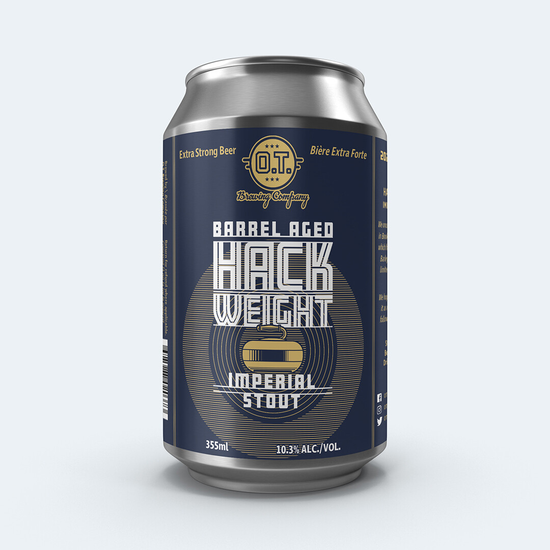 2020 Barrel Aged Hack Weight Imperial Stout ~Individual Can