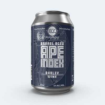 2020 Barrel Aged Ape Index Barley Wine ~Individual Can