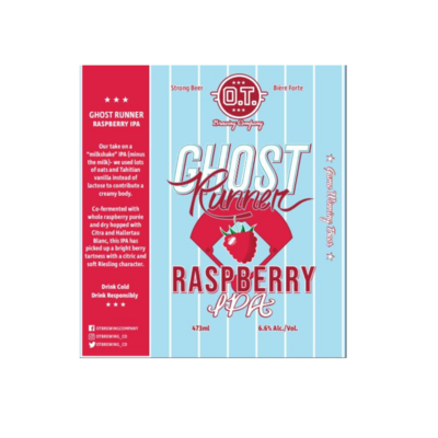 Ghost Runner Rasp IPA ~ 4 pack