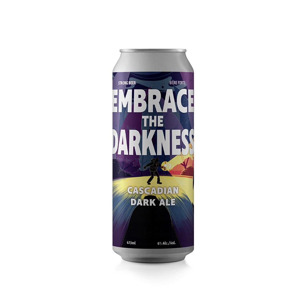 Embrace the Darkness Cascadian Dark Ale ~ 4 Pack