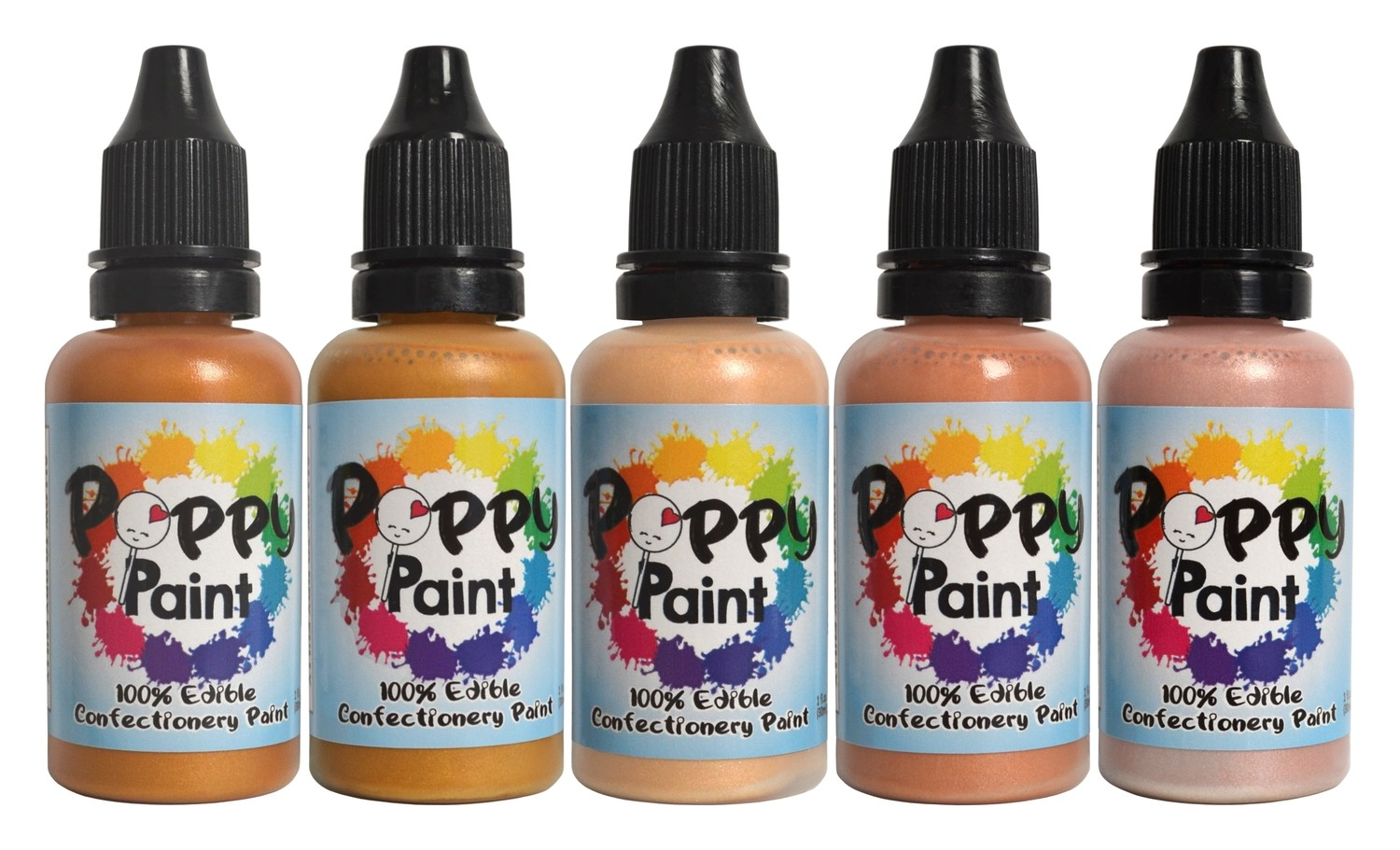 Poppy Paint Pearlescents All That Glitters Set (100% Edible)