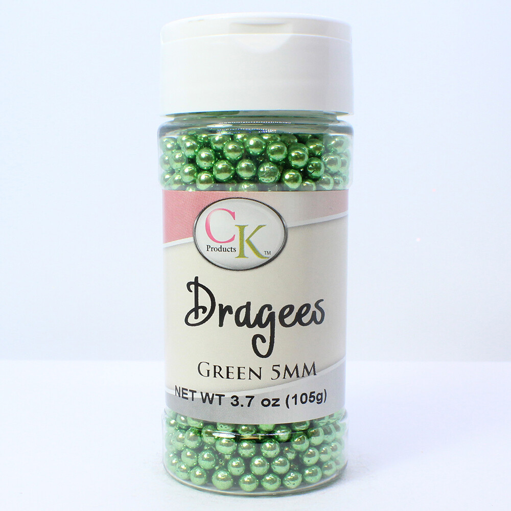 Green 5mm Dragee