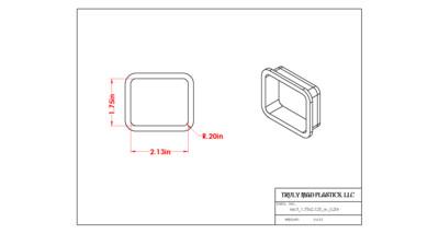 Rectangle 1.625 x 2.00 w 0.20R