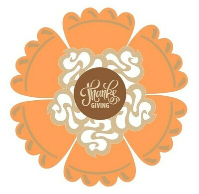 Pumpkin Pie w/Whip Cream Platter (3 piece)