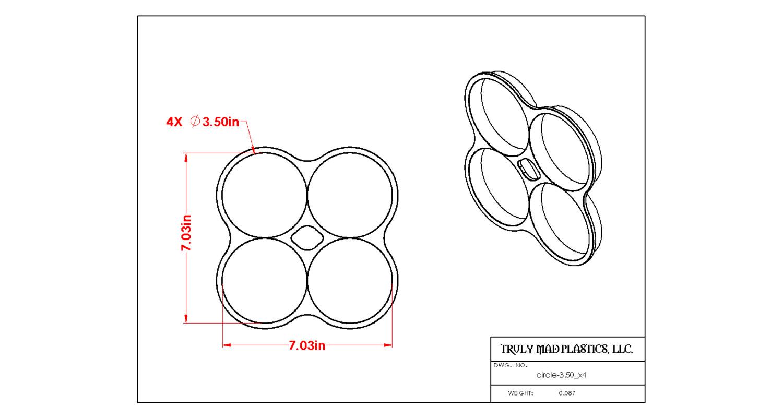 "Circle 3.50"" x 4"