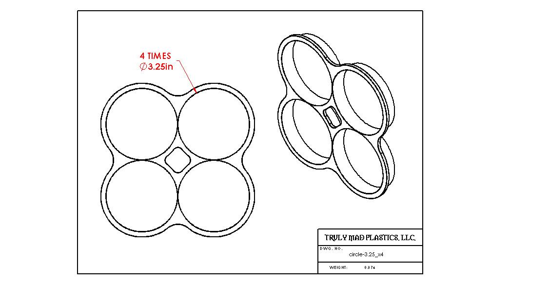 "Circle 3.25"" x 4"