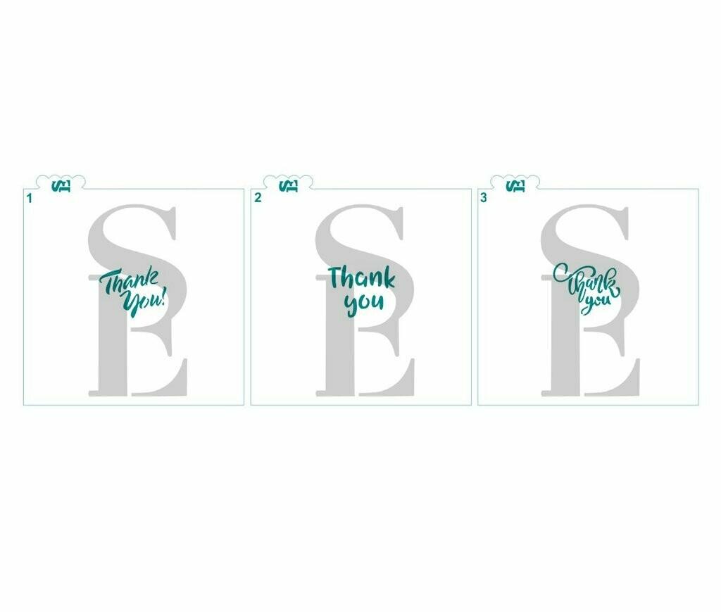 SE Thank You Mini (3 Stencils)