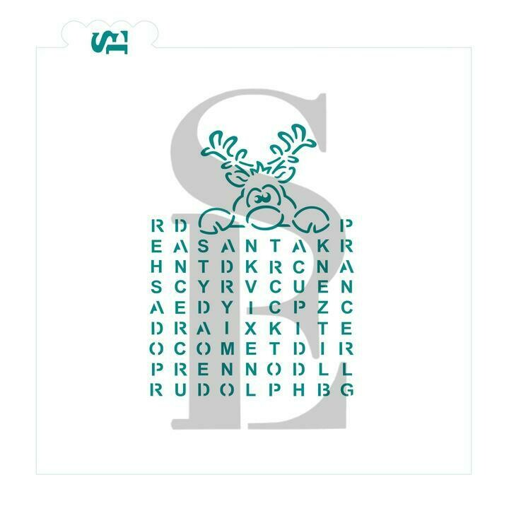 SE Reindeer Names Game PYO Word Search Stencil