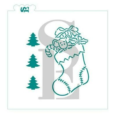 SE Christmas Stocking PYO Stencil