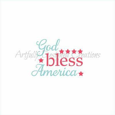 AD God Bless America 2 part Stencil