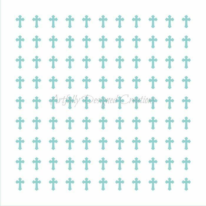 AD Sprinkle Swipes Crosses Stencil