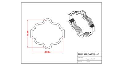 Crown Moulding Plaque 01