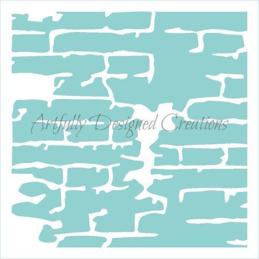 AD Vintage Brick Wall Stencil