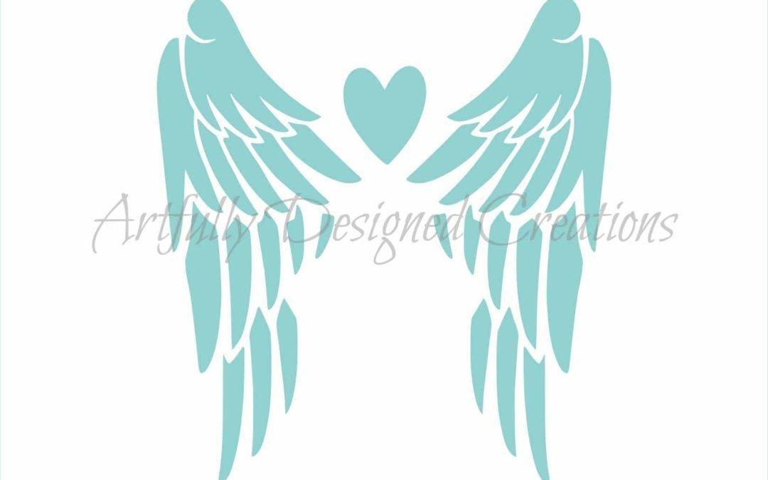 AD Angel Wings Stencil