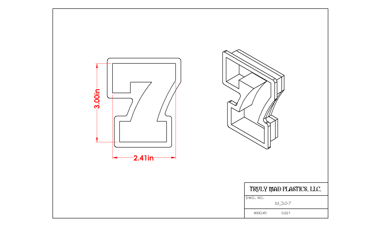 "7 3.0"" Block Number"