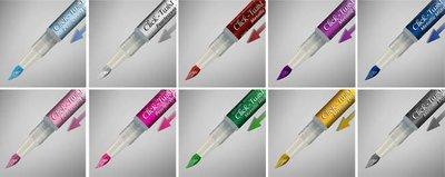 Rainbow Dust Click Twist Brush Pen