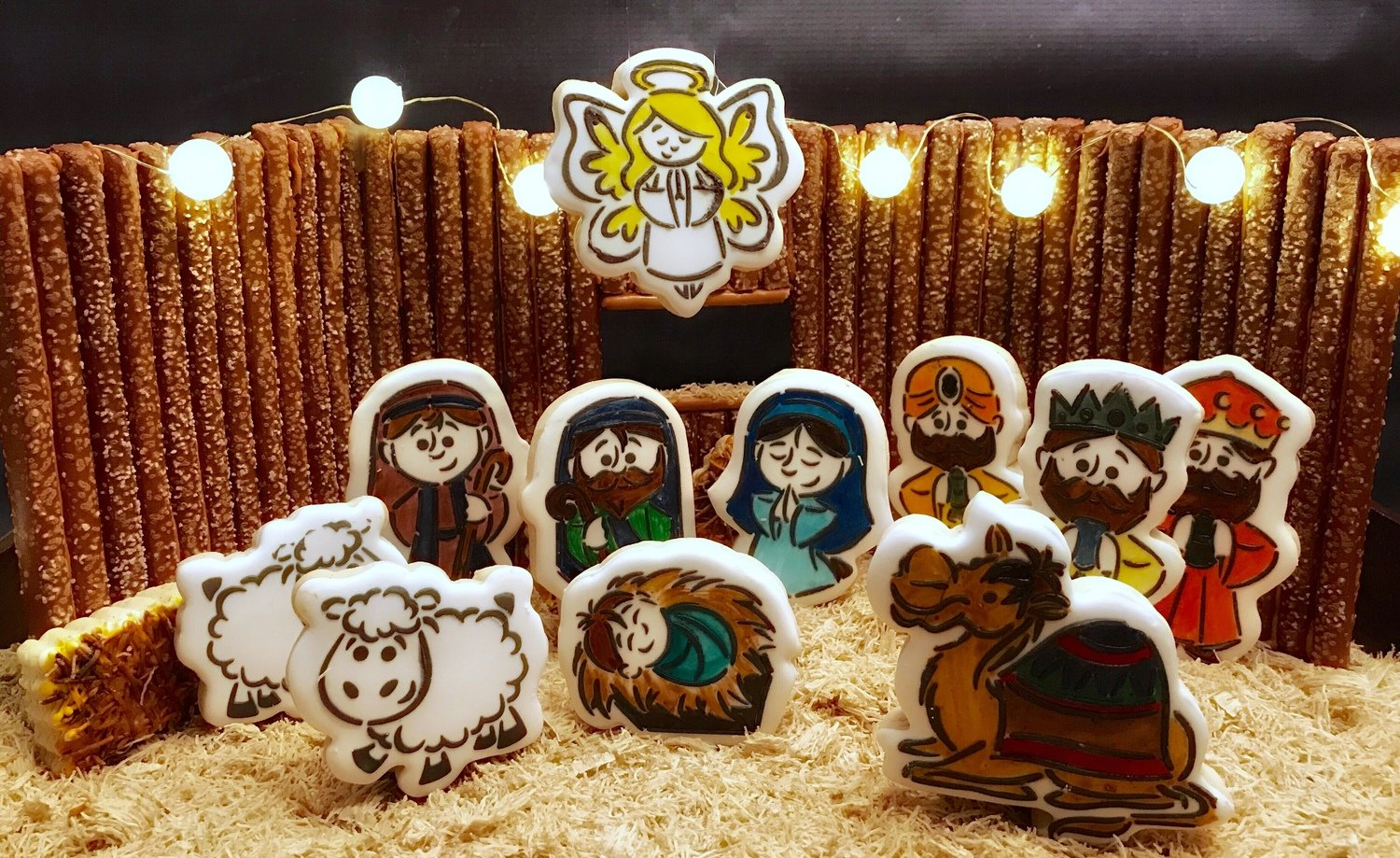Manger Set 04 (10 Cutter Set, WM 01, 02, 03, Shepherd, Joseph, Mary, Baby Jesus, Sheep, Camel, Angel)