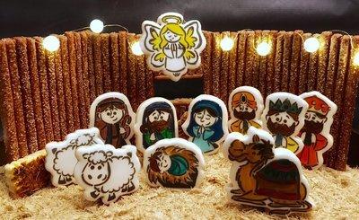 Manger Set 05 (12 Cutter Set, WM 01, 02, 03, Shepherd, Joseph, Mary, Baby Jesus, Sheep, Camel, Donkey, Angel, Star)