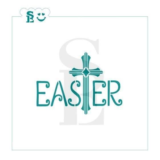 "Easter Plaque Cross Stencil 4.0"""
