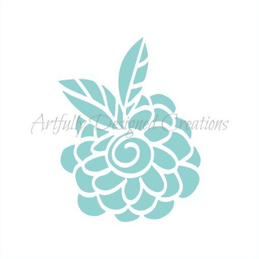 AD Blyss Whimsical Flower Stencil