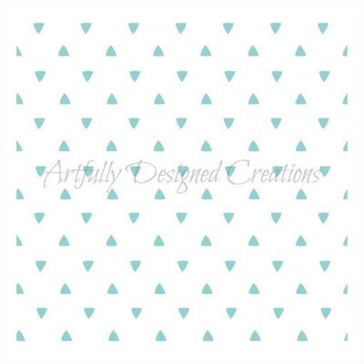 AD Blyss Triangle Background Stencil