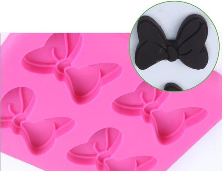 Mouse Bow Silicone Mold (4 bows)