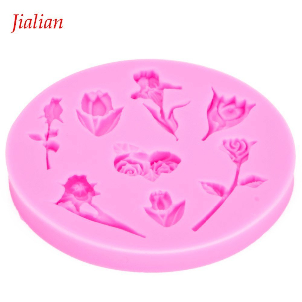 Long Stem Roses Silicone Mold
