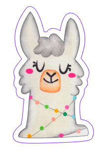 Christmas Llama 01