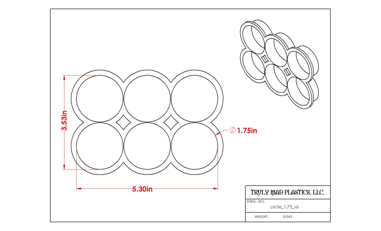 """Circle 1.75"""" multi cutter"""
