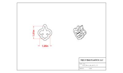 Mini Fleur de lis 01 (1.5