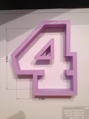 "4"" Block Number 4"