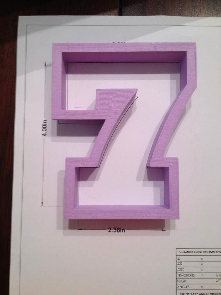 "4"" Block Number 7"