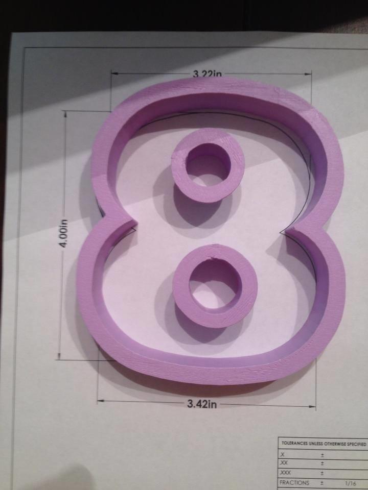 "4"" Block Number 8"
